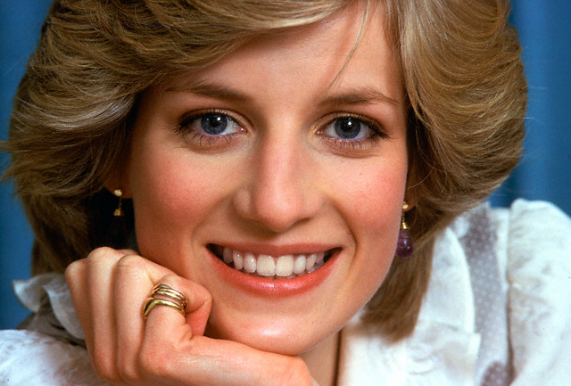 diana princess of wales smiles during a private photo session at her home kensington palace - Princess Diana Wedding Ring